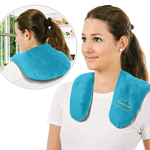 Heating Pad for Neck and Shoulders Warmer Microwavable Moist Heat Portable Wrap for Pain Relief from General Soreness Arthritis Joint Muscle and Nerve Strain by ComfortCloud