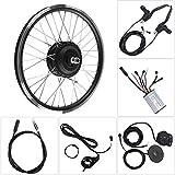 Lecxin Ebike Conversion Kit, 700C Front/Rear Wheel Electric Bicycle Motor Kit 36V/48V 250W