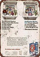 Arm & Hammer Washing Soda 注意看板メタル安全標識注意マー表示パネル金属板のブリキ看板情報サイントイレ公共場所駐車ペット誕生日新年クリスマスパーティーギフト