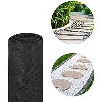 Relaxdays, Negro, Malla Antihierbas 17 g/m² Permeable y Resistente a los Rayos UV, Polipropileno, 15 m