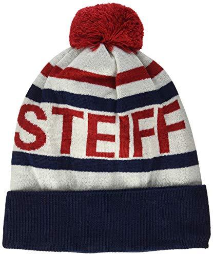 Steiff Jungen Hat Mütze, Schal & Handschuh-Set, Grau (Patriot Blue 6033), (Herstellergröße:51)