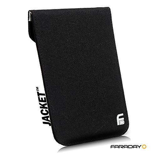 Faraday Schutztasche für Mobiltelefone, Festplatte, RFID, EMP, Leinen, 4,5 x 6,5 cm, Schwarz