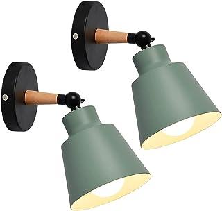 TOKIUS 2 Packs Appliques Murales Vintages Industrielles Plafonniers Luminaires E27 en Métal Réglable Lampe Murale Interieu...