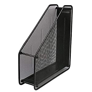 Wire Mesh Metal Magazine File Holder Wall Mounted Desktop Magazine Document Letter Single Frames File Dividers Document Cabinet Rack Display and Storage Organizer Box