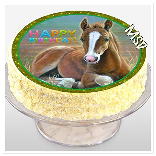 MSDeko taartversiering verjaardag paard taartdecoratie