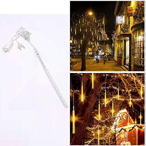 Fineday 30CM Party LED Lights Shower Rain Snowfalls Xmas Tree Garden Outdoor, LED Light, Home & Garden (Yellow)