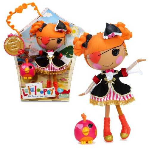 MGA Entertainment Lalaloopsy 'Sew Magical! Sew Cute!' 12 Inch Tall Button Doll - Peggy Seven Seas with Pet 'One-Eyed Parrot'