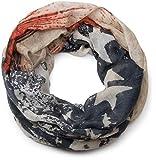 styleBREAKER Vintage Design Sterne Muster Loop Schlauchschal, Schabby Schick Look, Unisex 01016085, Farbe:Dunkelblau