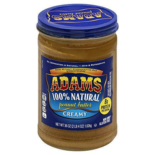 Adams 100% Natural Creamy Peanut Butter Spread, 36...