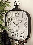 Deco 79 52560 Metal Glass Wall Clock, 18' x 26'