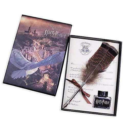Harry Potter Plumas Caligrafía Pluma Bolígrafo con Tinta Set Creativo Mini Quill Pen Metal NIB Bolígrafo de escritura con Pluma para Niños