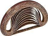 12 unidades de cinta de lija de tejido / 10 x 330 mm / 2 x grano 40-60 - 80-120 - 180-240 / compatible con limas de banda / papel de lija / paquete de mezcla de bandas de lija.