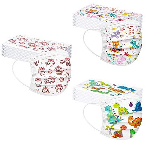 30 Piezas Desechables Infantiles a Prueba de Polvo de 3 Capas Coloridas para niños y niñas de 4 a 10 años (30PCS, Multicolor 2)