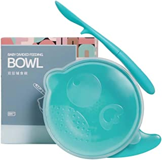 STOBOK Baby Bowls with Spoon for Babies Kids Toddlers First Stage Self Feeding Bowl