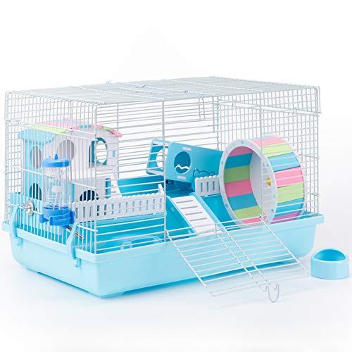 ROBUD Large Hamster Cage Gerbil Haven Habitat Small Animal Cage (Blue)