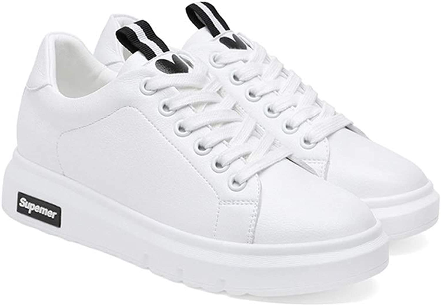 WANGFANG Sandals White shoes, Spring and Summer Casual Versatile Sneakers Low Top Fashion Sneakers Lace-up Sneaker for Women (color   Black, Size   US5 EU36 UK3 MX2.5 CN36)