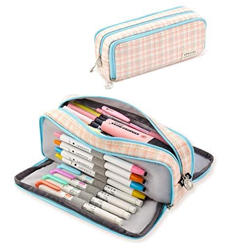 Estuche de lápices con 3 Compartimento para Niños Adolescente,Caja Case con Cremallera de Escolar,Lápiz de gran capacidad Bolsas,Bolsa de Papelería,Estuche grande para lápices