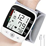 Wrist Blood Pressure Monitor, Blood Pressure Cuff with USB Charging, Automatic Digital Home BP Monitor Cuff - Accurate, Adjustable Cuff, Intelligent Voice, Irregular Heartbeat & Hypertension Detector