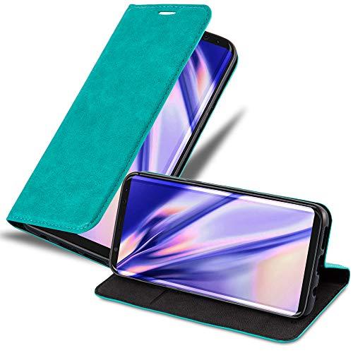 Cadorabo Funda Libro para Samsung Galaxy S8 en Turquesa Petrol - Cubierta Proteccíon con Cierre Magnético, Tarjetero y Función de Suporte - Etui Case Cover Carcasa