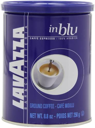 Lavazza in Blu Espresso Ground Coffee Blend Medium Espresso Roast 8 8 Ounce Cans Pack of 4 product image