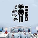 """SITAKE Game Room Decor, """"Gamer"""" Boys Room Decorations for Bedroom, Kids Wall Decor and Wall Stickers for Playroom, 19.7 × 22.0 Inch"""