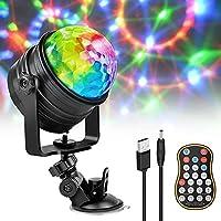 ❉Drei Steuerbetriebsarten:❉ Diese Disco effekte Licht mit Fernbedienung hat eine Fernsteuerung Modus, drei Sprachsteuerung Modus, Automatisch-Modus.. Wenn die Musik klingt, wird sich die Licht nach der Radiofrequenzänderung änderen. Wenn die Musik st...