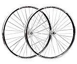LSRRYD Juego Ruedas Bicicleta Plegable 406/451/24'' BMX Llanta Freno De V Disco Freno Ruedas De Bicicleta Liberación Rápida Buje para 6/7/8 Velocidades Volante De Tornillo