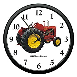 New Vintage 1953 Massey Harris Model 44 Tractor Wall Clock 10