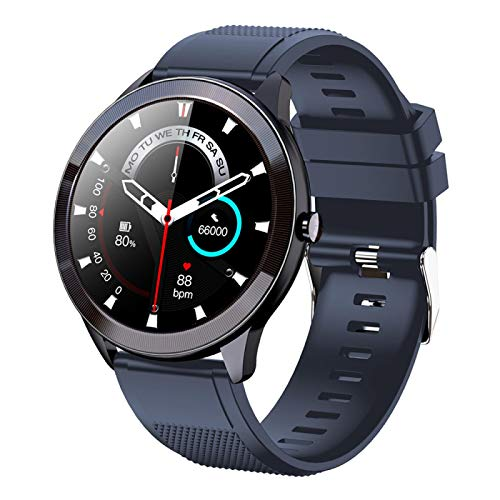 Sn93 Smart Watch, Fitness Tracker,2021style, Ip68 Waterproof, with Oxygen Saturation, Bluetooth Call, Children's Male and Female Pedometer,Removable Strap(Blue)