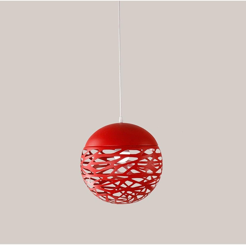 tienda en linea Nordic LED Araa Lámpara de techo Moderno Moderno Moderno hierro forjado mesa de comedor araa rojo negro blancoo Cafe decoración lámpara (Color   rojo)  Sin impuestos