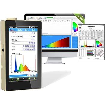 Hopoocolor OHSP350 Spectrometer Handheld for LED Light Tester with Software