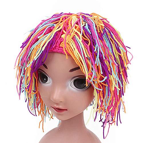 Aibccr Kinder grüne Wolle Perücke Hut Halloween Baby Karneval Hut Aktivität Party Leistung Hut