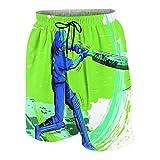 De Los Hombres Casual Pantalones Cortos,Deportes Jugador de críquet Lanzamiento Juego ganador...