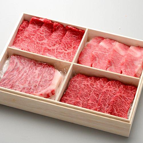 米沢牛懐石 贅沢4種盛り 上カルビ100g、上ロース100g、サーロイン100g、イチボ100g