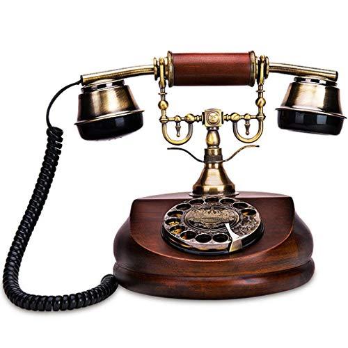YUBIN Teléfono Receptor de teléfono con Cable Retro Anti-Radiación, Instalación de Escritorio Teléfono Fijo - Rojo