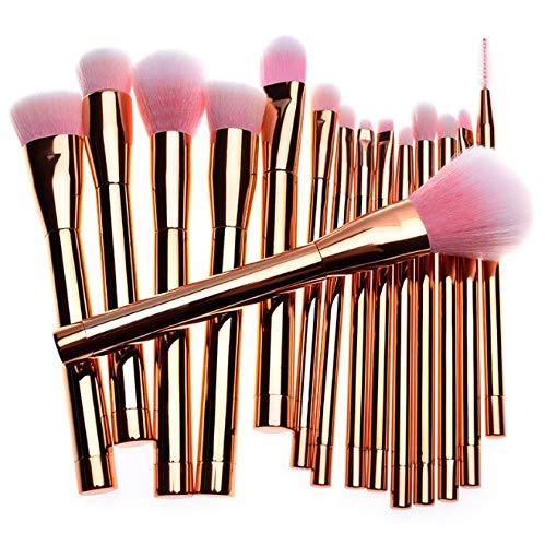 Zhicaikeji Jeu de pinceaux de maquillage, 15 violet, vert, or Jeu de pinceaux de maquillage, cadeau de maquillage pinceau de maquillage professionnel (Color : Gold)