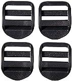 AceCamp 7051 Duraflex - Candado de Escalera (4 Unidades, 25 mm), Color Negro