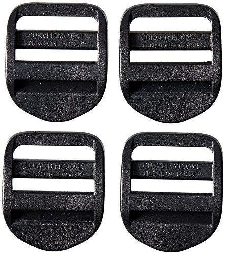 AceCamp 7051 Duraflex - Set di 4 lucchetti per conduttori, 25 mm, Colore: Nero