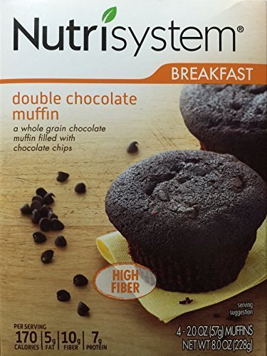 Nutrisystem Breakfast Double Chocolate Muffin, 4 - 2.0 OZ (57g) Count by Nutrisystem