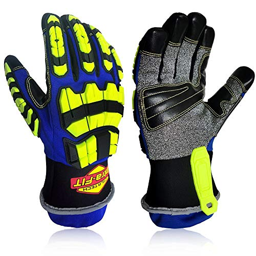 Intra-FIT Heavy-duty Rescue Extrication Glove Impact,Protection, Super Dexterity 5, EN388:2016 4544FP; ANSI CUT LEVEL A8,Size S