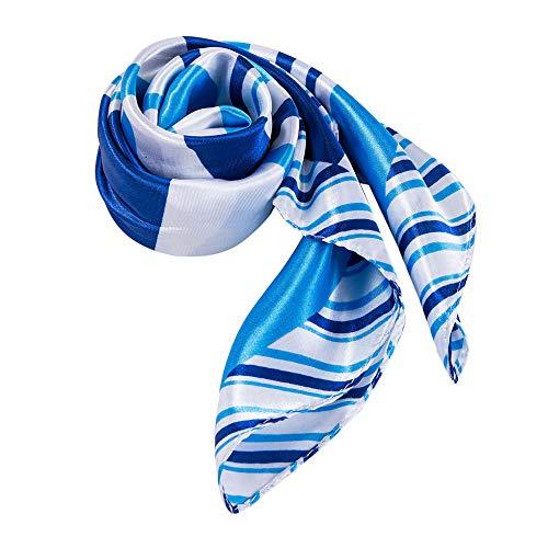 ALBERTO CABALE Zijde Vierkante Mode Sjaal voor Vrouwen Hoofddoek Haar Nek Wraps in Luxe Cadeautas