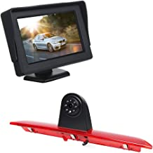 Roof Mount Backup Camera 3rd Brake Light Replacement Camera +4.3 inch TFT Monitor Display for Ford Transit 150/250/350 V636 2014 – 2018 Transporter Van