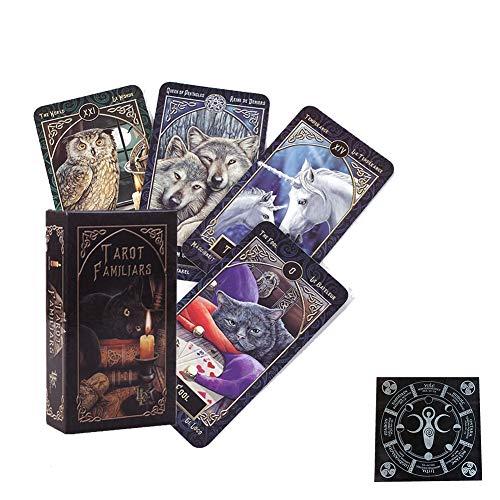 Nuevos Tarot Familiars Deck Cards Fate Adivinación Juegos de Mesa Naipes Fiesta Familiar Juego de Mesa Entretenimiento,Board Game,with Tablecloth