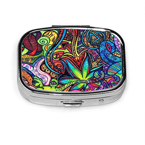Cool Weed - Pastillero cuadrado personalizado personalizado con diseño de flores