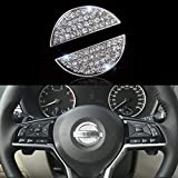 Bling Bling Car Steering Wheel Decorative Diamond Sticker Fit For NISSAN,DIY Bling Car Ste...