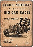 Carrell Speedway Big Car Races ティンサイン ポスター ン サイン プレート ブリキ看板 ホーム バーために
