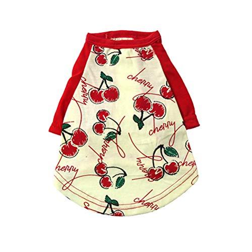 Haustier-Kleidung Polo-T-Shirt Katzen-Welpe weiches bequemes Baumwollt-Shirt mit Frucht-Muster-Pudel-Haustier-Weste-Kostüm-Kleid