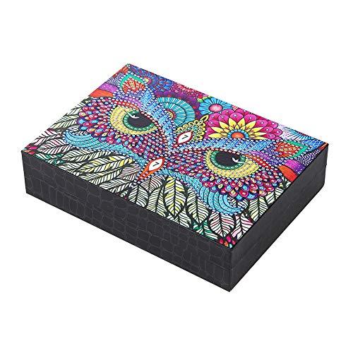 Qitiner DIY spezielles Diamantgemälde Nachtvogel, dekoratives Schmuckkästchen aus Kunstharz.