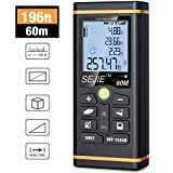 ESYWEN Laser Measure, Digital Laser Distance Meter 196ft Laser Tape Measure with Large LCD Backlight Display and Pythagorean Mode, Measure Distance/Area/Volume