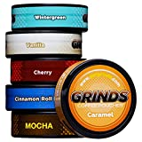 Grinds Coffee Pouches - New 6 Can Variety Pack (with Wintergreen & Cherry) - Tobacco Free, Nicotine Free Healthy Alternative